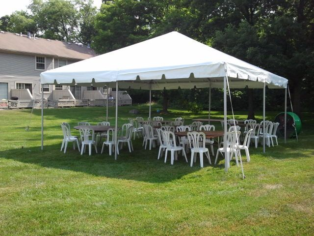 20u2032 x 20u2032 White Frame Tent & Traditional White Frame Tents - Metro Cuisine - Columbus OH