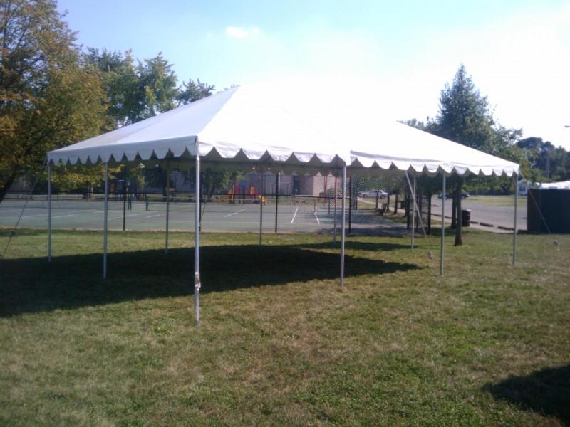 20u2032 x 30u2032 White Frame Tent & Traditional White Frame Tents - Metro Cuisine - Columbus OH