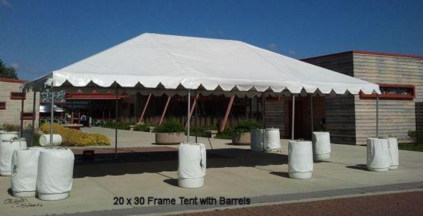 20 x 30 white frame tent metro cuisine columbus oh. Black Bedroom Furniture Sets. Home Design Ideas