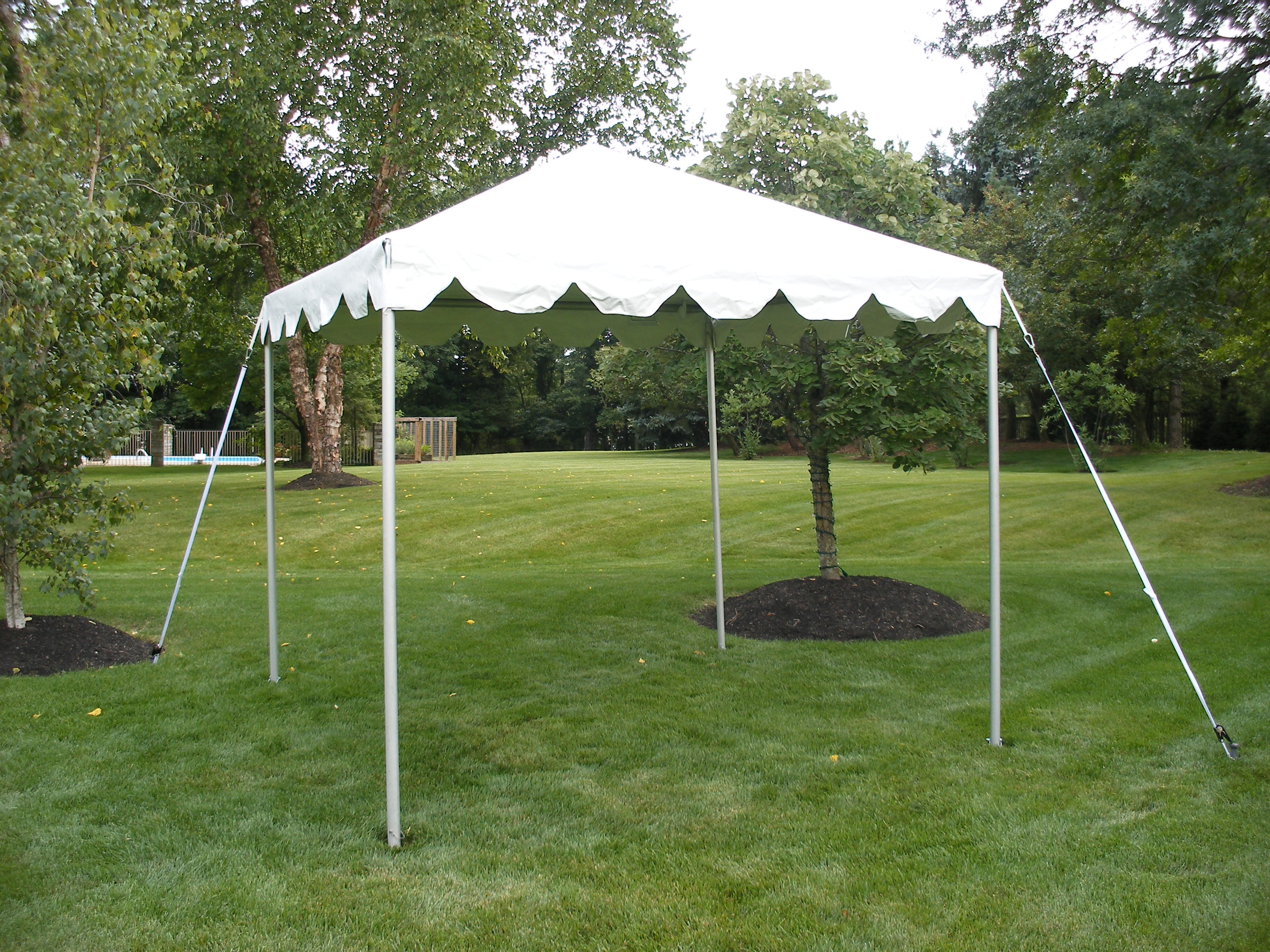 10 x 10 Frame Tent is ideal as a flea market booth, food or cake tent