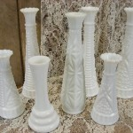 Milk Glass - Asst Vases