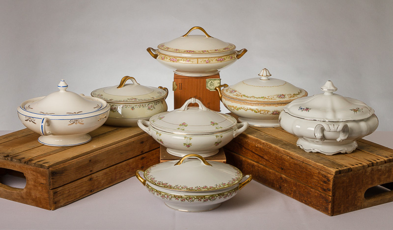 ideal for family style dinners or even as decor with lid removed and florals put in the inside 500 each - Metro Decor