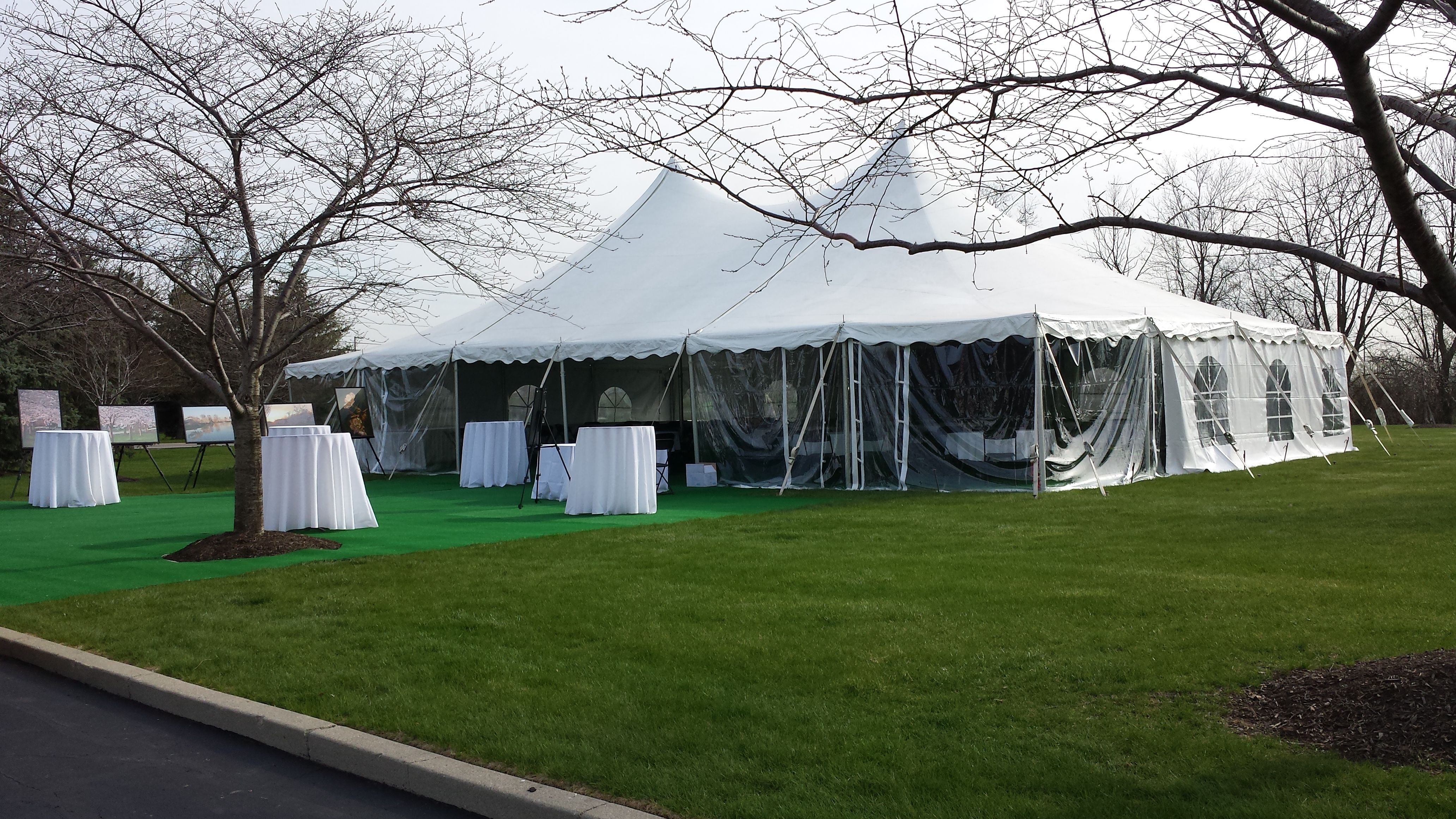 40 x 60 foot high peak tension tent with clear sidewalls and artificial turf. & High Peak Tension Tents - Metro Cuisine - Columbus OH