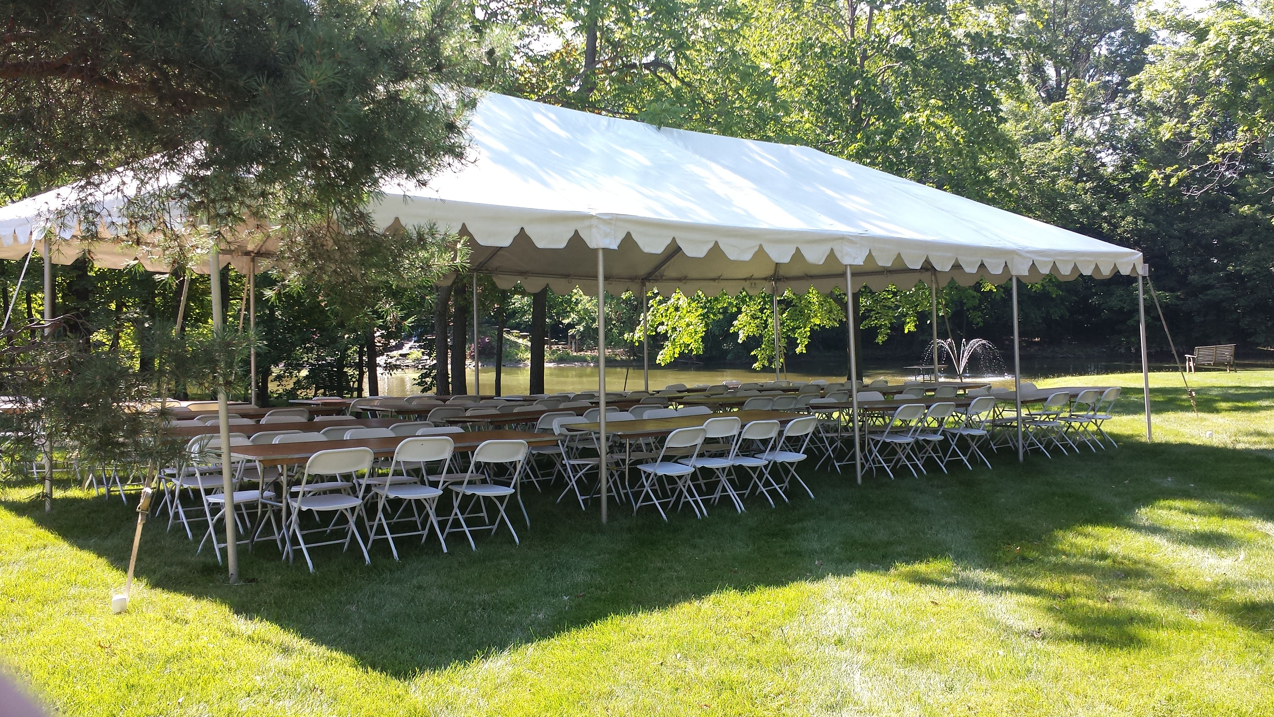 20 x 40 & Traditional White Frame Tents - Metro Cuisine - Columbus OH