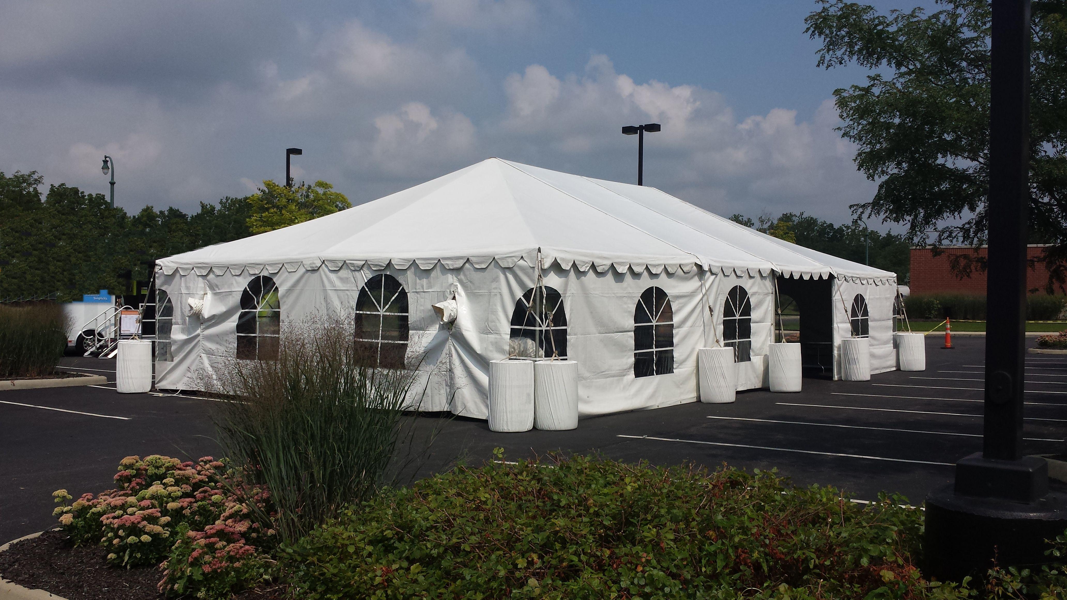 30u2032 x 50u2032 White Frame Tent & 30u2032 x 50u2032 White Frame Tent - Metro Cuisine - Columbus OH